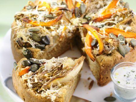 Kürbis-Chicorée-Kuchen