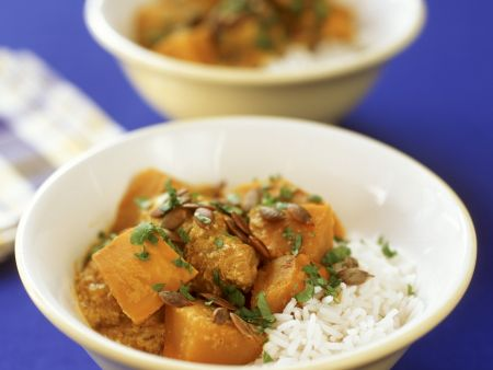 Kürbis-Geflügel-Curry