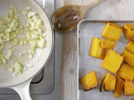 Kürbis-Ingwer-Suppe: Zubereitungsschritt 3