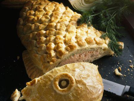 Lachs mit Weißkohl im Teigmantel