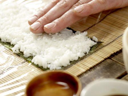 Lachs-Sushi: Zubereitungsschritt 5