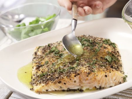 Lachsfilet aus dem Ofen: Zubereitungsschritt 7