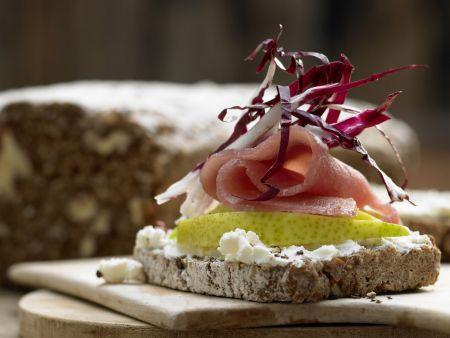 Lachsschinken-Frischkäse-Brote