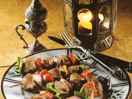 Lamm-Paprika-Spieße vom Grill