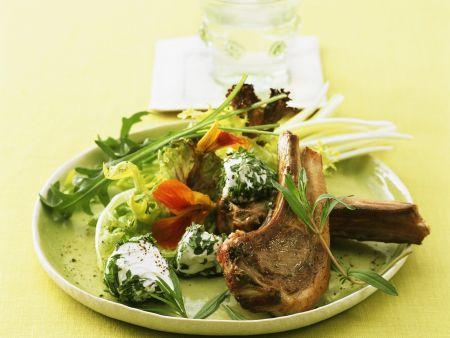 Lammchops mit Frischkäse