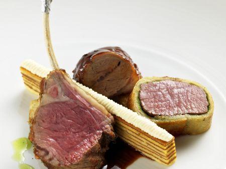 Lammfleisch mit Baumkuchen