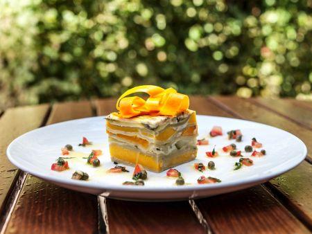 Lasagne aus Kürbis und saurer Sahne