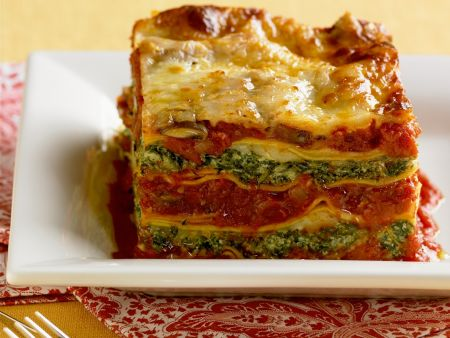 lasagne mit spinat und tomaten rezept eat smarter. Black Bedroom Furniture Sets. Home Design Ideas