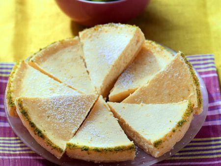 Limetten-Frischkäse-Tarte