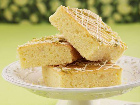 Limettenkuchen mit weißer Schokolade
