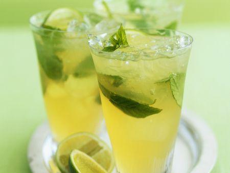 Limettenpunsch mit grünem Tee