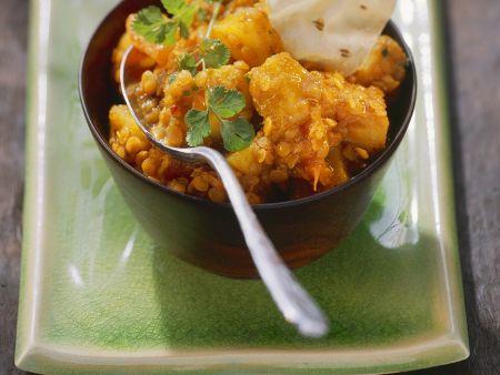 Linsen-Kartoffelcurry
