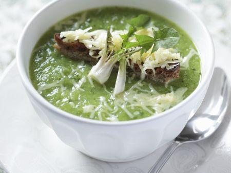 Löwenzahn-Käse-Suppe