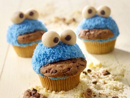 lustige monster muffins rezept eat smarter. Black Bedroom Furniture Sets. Home Design Ideas