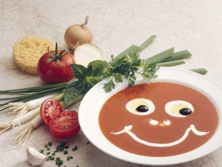 Lustige Tomatensuppe