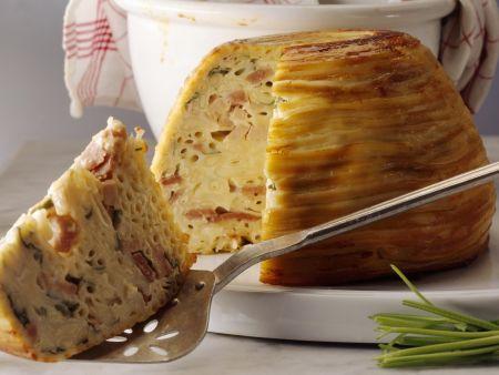 Makkaronigratin mit Schinken und Käse