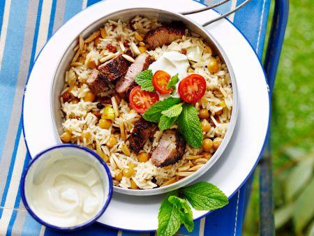 Marokkanischer Reis mit Lamm und Joghurt