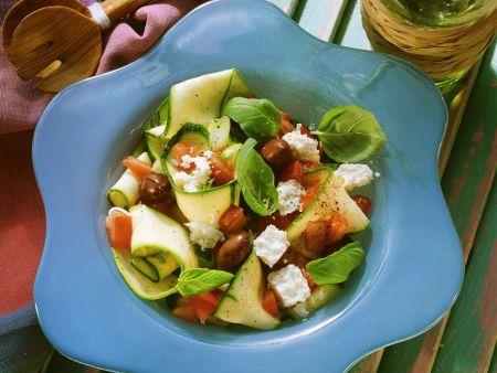 Mediterraner Zucchinisalat