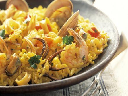 Meeresfrüchte-Paella