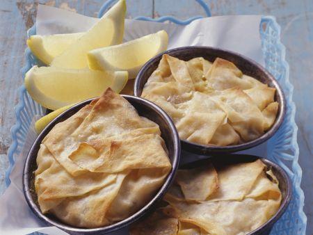 Meeresfrüchte-Pastete auf Marokkanische-Art (Pastilla)