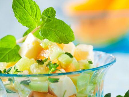 melonen gurkensalat mit feta rezept eat smarter. Black Bedroom Furniture Sets. Home Design Ideas