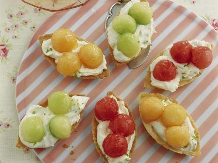 Melonen-Tarteletts