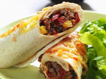 Mexikanische Burritos mit Hack