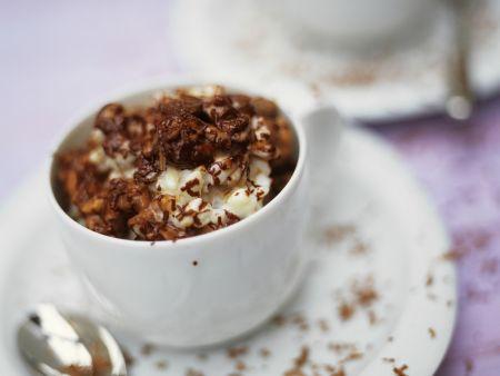 Milchreis mit Raspel-Schokolade