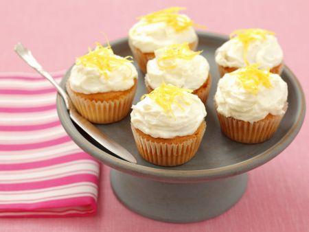 Mini-Cupcakes mit Frischkäse und Zitrone