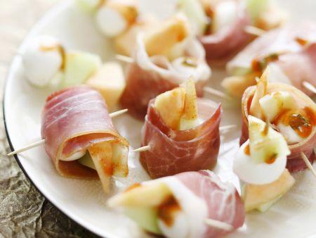 Mozzarella-Schinken-Röllchen