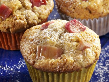 Muffins mit Rhabarber