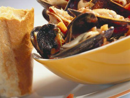 Muscheln in Tomatensauce