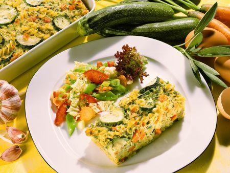 Nudel-Gemüseauflauf