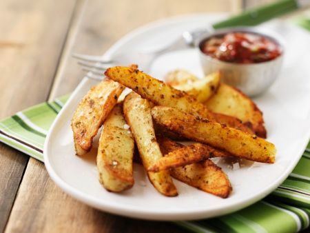 Ofenkartoffeln mit Tomaten-Chilidip