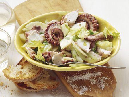 Oktopus-Apfel-Salat mit Sellerie