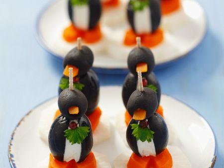Oliven-Tiere für Kinder