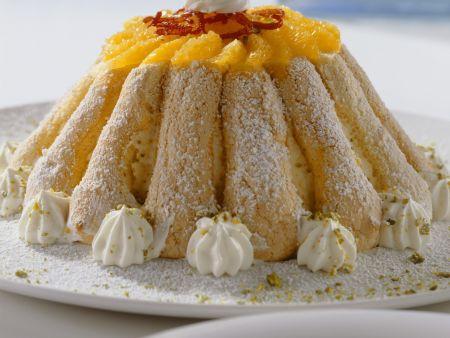 Orangen-Löffelbiskuit-Torte