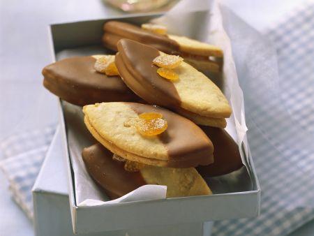 Orangenplätzchen mit Nougat