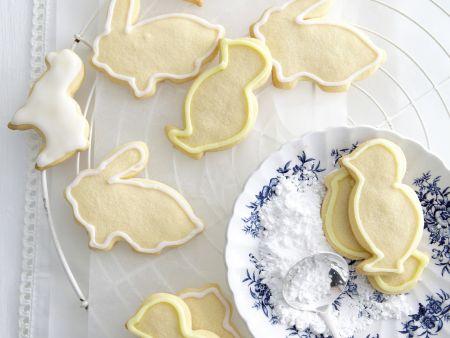 Osterkekse mit Orangen-Zuckerguss