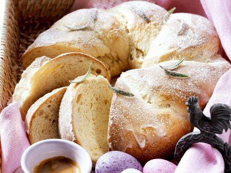 Osterkranz mit Vanille und Rosmarin