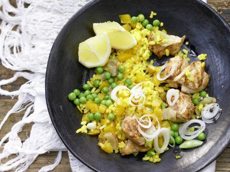 paella mit h hnchen rezept eat smarter. Black Bedroom Furniture Sets. Home Design Ideas