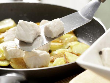 Pannfisch mit Senfsauce: Zubereitungsschritt 11