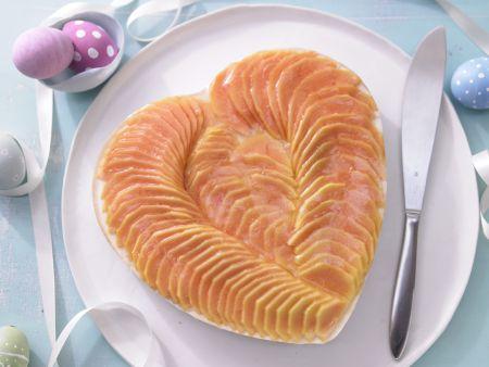 Papaya-Herztorte
