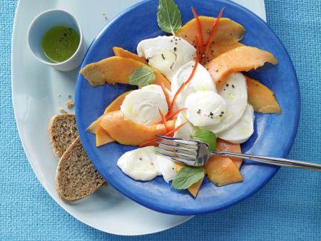 Papaya-Mozzarella-Carpaccio