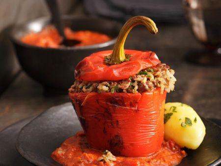 Paprika mit Hackfleischfüllung