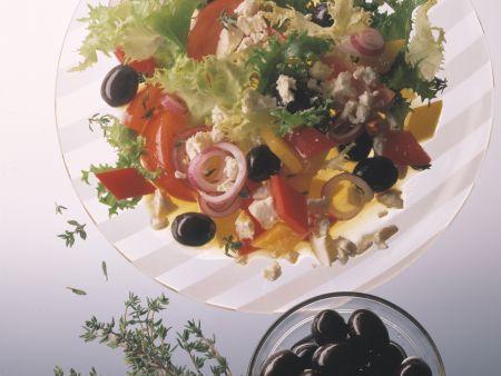 Paprika-Schafskäse-Salat