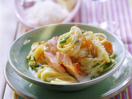 Pasta mit Lachs