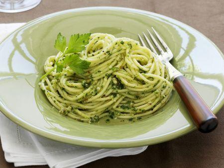 pasta mit petersilien pesto rezept eat smarter. Black Bedroom Furniture Sets. Home Design Ideas