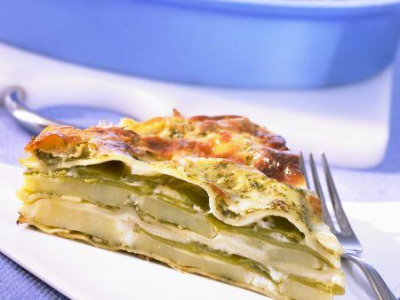 Pesto-Lasagne mit Kartoffeln