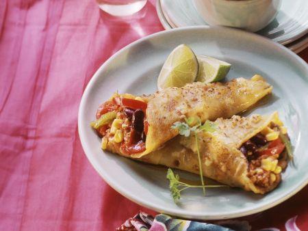 Pfannkuchen mit Mexikanischer Hackfleisch-Füllung
